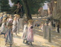 The Road to the school on Edam - Max Liebermann