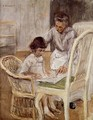 Portrait of the Artist's Grand-daughter with Her Nurse, 1919 - Max Liebermann