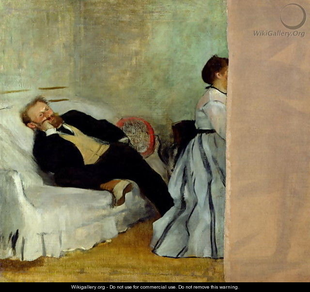 Monsieur and Madame Edouard Manet, 1868-69 - Edgar Degas