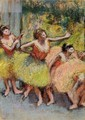 Dancers in Lemon and Pink - Edgar Degas