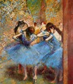 Dancers in blue, 1890 - Edgar Degas
