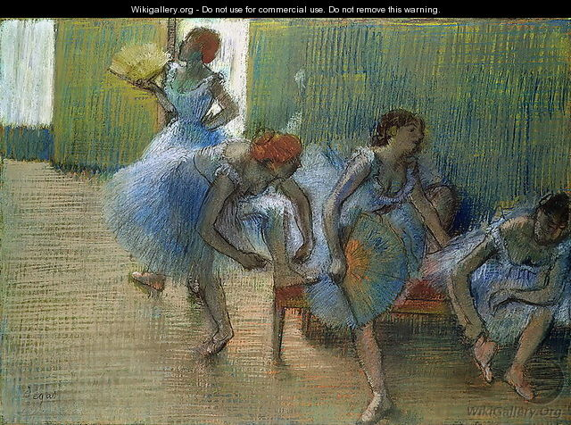 Dancers on a Bench, c.1898 - Edgar Degas