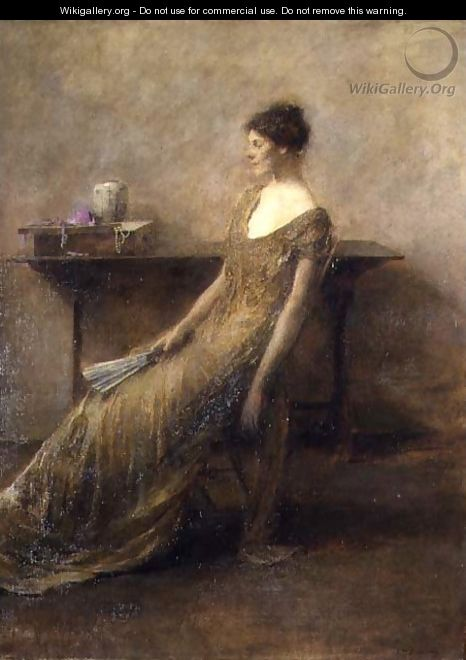 Lady in Gold, c.1912 - Thomas Wilmer Dewing