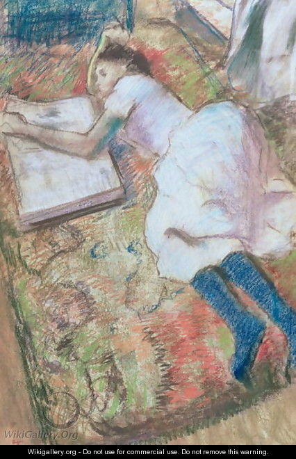 Young Girl Lying Down Looking at an Album, c.1889 - Edgar Degas