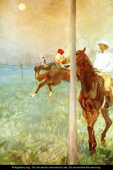 Jockeys Before the Race, c.1878-79 - Edgar Degas