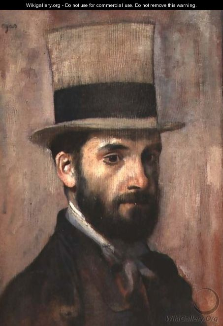 Portrait of Leon Bonnat (1833-1922) c.1863 - Edgar Degas