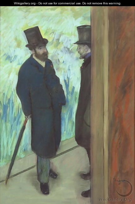 Friends at the Theatre, Ludovic Halevy (1834-1908) and Albert Cave (1832-1910) 1878-79 - Edgar Degas
