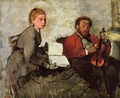 Violinist and Young Woman, c.1871 - Edgar Degas