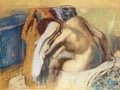Woman Drying her Hair after the Bath - Edgar Degas