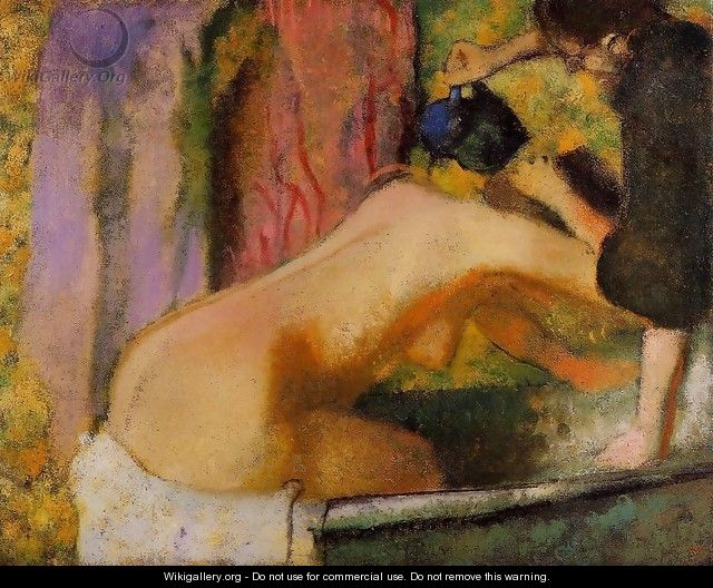 Woman at Her Bath, c.1895 - Edgar Degas