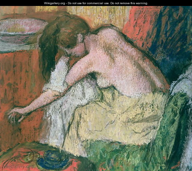 Woman drying herself, 1888-89 - Edgar Degas