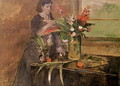 Young woman arranging flowers, 1872 - Edgar Degas