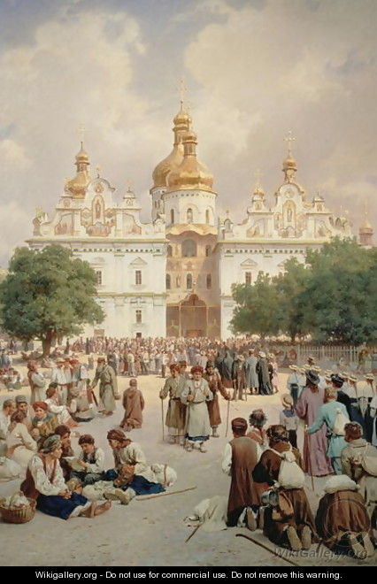 The Great Church of Kievo-Pecherskaya Lavra in Kiev, 1905 - Vasili Vasilyevich Vereshchagin