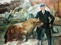 Carl Hagenbeck (1844-1913) in His Zoo, 1911 - Lovis (Franz Heinrich Louis) Corinth