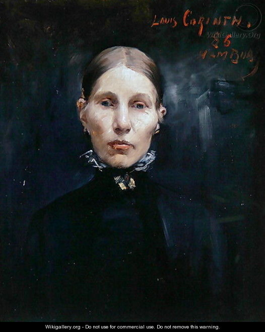 Portrait of a Hamburg Woman, 1886 - Lovis (Franz Heinrich Louis) Corinth