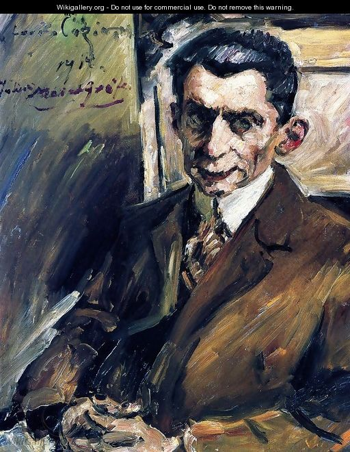 Portrait of Julius Meier-Grafe (1867-1935) Art Historian, c.1912-14 - Lovis (Franz Heinrich Louis) Corinth