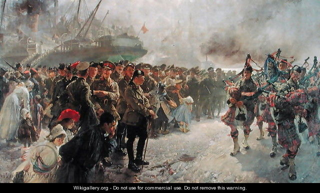 Landing of the First Canadian Division at St. Nazaire, 1915 - Edgar Bundy