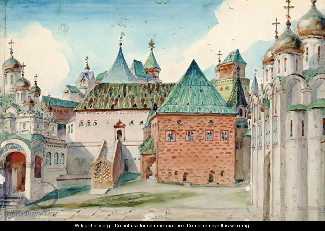Stage design for Modest Mussorgsky