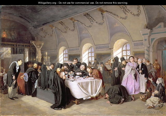 The Refectory, 1865-76 - Vasily Perov