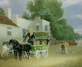 Kidd's Omnibus to Turnham Green at the Angel Inn - James Pollard