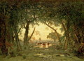 The Forest at Fontainebleau: Morning (Lisiere de foret; effet de matin) 1849-51 - Theodore Rousseau