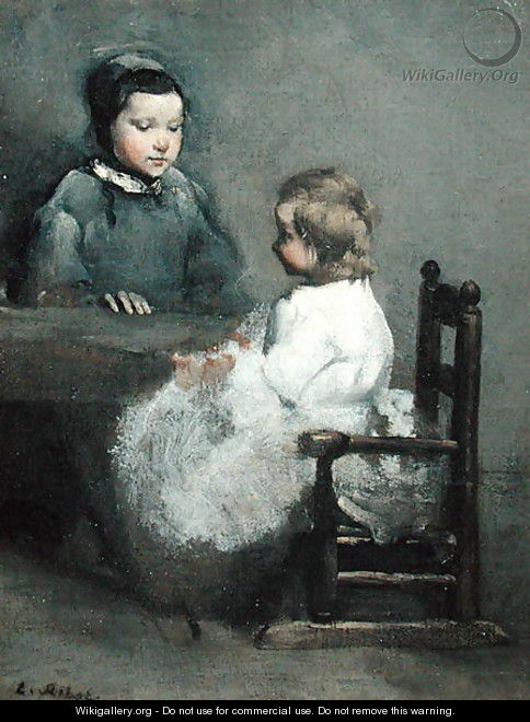 The Two Sisters - Theodule Augustine Ribot