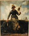 The Spinner, Goatherd of the Auvergne, 1868-69 - Jean-Francois Millet