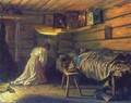 Sick husband, 1881 - Vasily Maximov