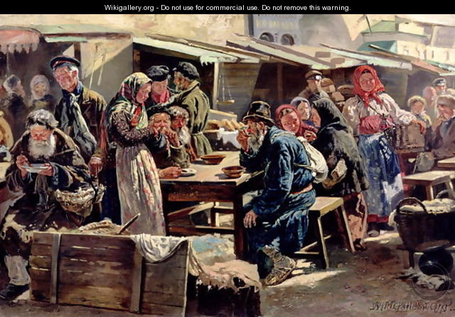 The Meal, 1875 - Vladimir Egorovic Makovsky