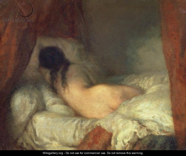 Reclining Female Nude, c.1844-45 - Jean-Francois Millet