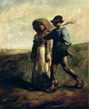 Going to Work, c.1850-51 - Jean-Francois Millet