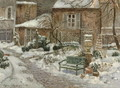 The Garden under Snow - Eugene Chigot