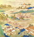 Emperor Hui Tsung (r.1100-26) transporting pierced stones and strange shaped trees, from a History of the Emperors of China - Anonymous Artist