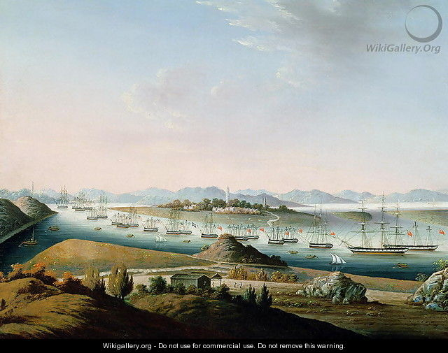 View of Whampoa, c.1840 - Anonymous Artist