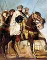 Ali Ben Ahmed, the Last Caliph of Constantine, with his Entourage outside Constantine, 1845 - Theodore Chasseriau