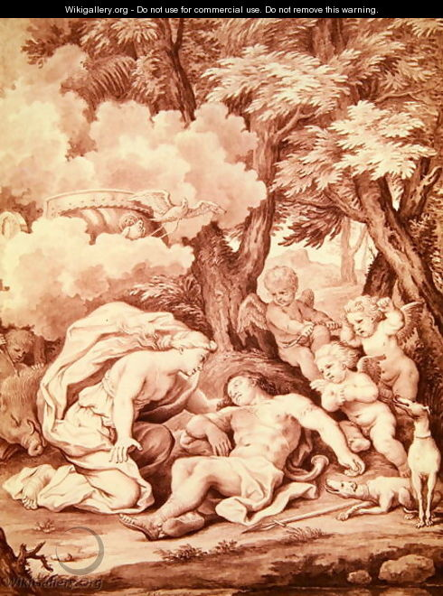 Venus Discovering Adonis, from