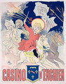 Reproduction of a poster advertising the 'Casino d'Enghien', 1890 - Jules Cheret