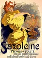 Reproduction of a poster advertising 'Saxoleine', safe parrafin oil, 1896 - Jules Cheret