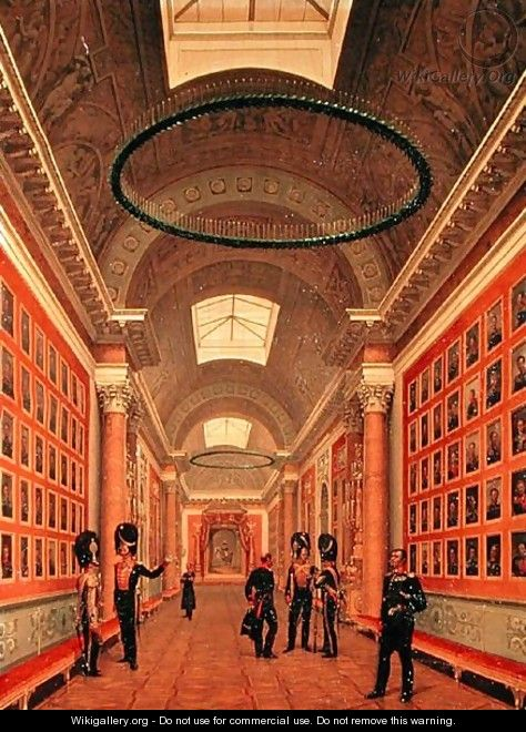 The War Gallery of the Winter Palace in St. Petersburg, c.1830s - Nikanor Grigorevich Chernetsov