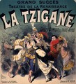 Poster advertising 'La Tzigane', comic opera with music - Jules Cheret