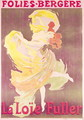 Poster advertising Loie Fuller (1862-1928) at the Folies Bergeres, 1897 - Jules Cheret