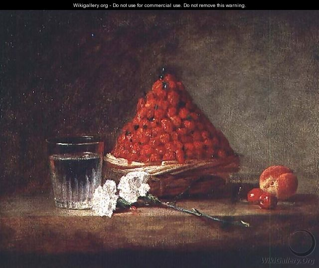 Basket with Wild Strawberries, c.1761 - Jean-Baptiste-Simeon Chardin