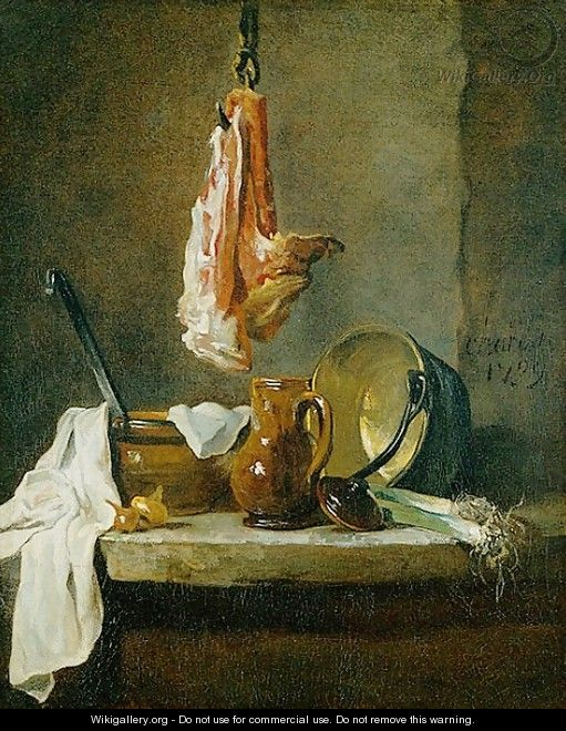 Still Life with a Rib of Beef, 1739 - Jean-Baptiste-Simeon Chardin