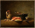 Copper Cauldron with a Pitcher and a Slice of Salmon - Jean-Baptiste-Simeon Chardin