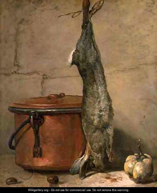Rabbit and Copper Pot c.1739-40 - Jean-Baptiste-Simeon Chardin