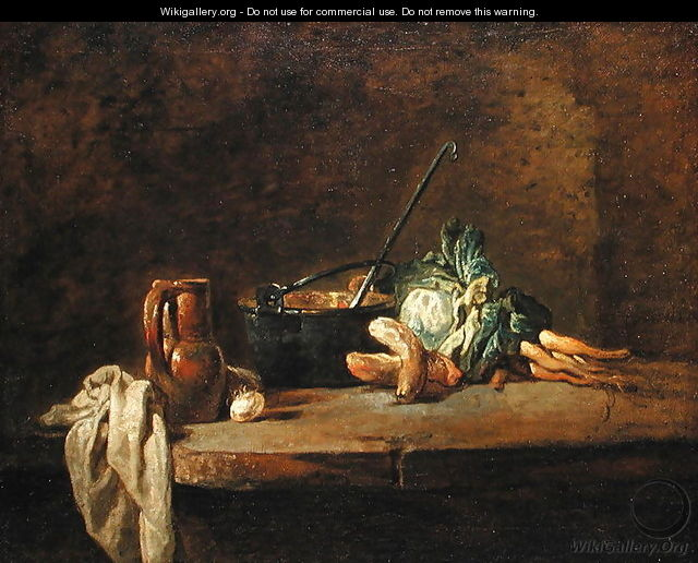 Still life of Vegetables for the Soup, c.1732 - Jean-Baptiste-Simeon Chardin