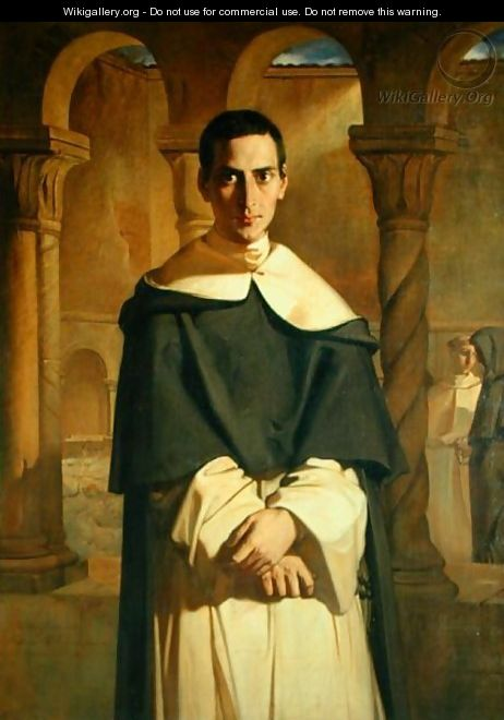 Portrait of Jean Baptiste Henri Lacordaire (1802-61), French prelate and theologian, 1841 - Theodore Chasseriau