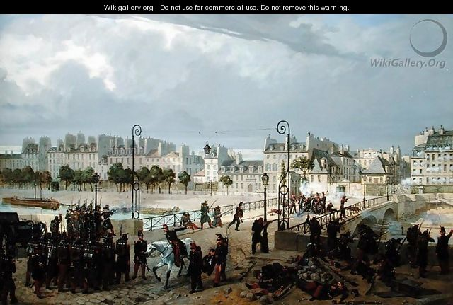 An Attack on a Barricade on the Pont de l