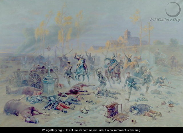 The Charge of French Soldiers at the Battle of the Marne, 8th or 9th September 1914, 1915 - Eugène Chaperon