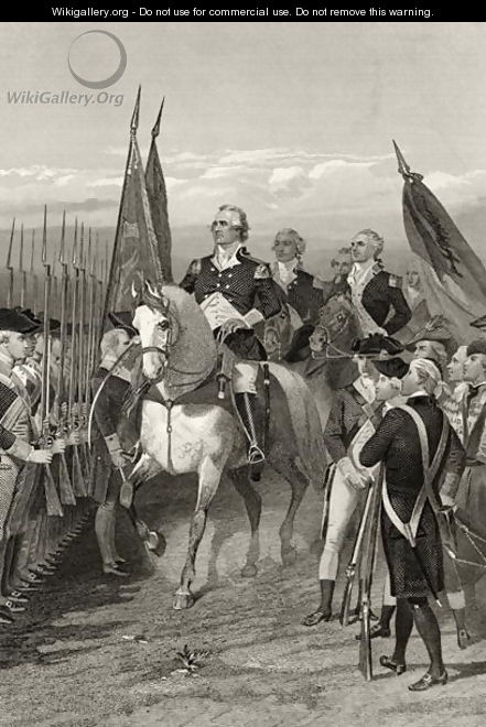 George Washington taking command of the Army, 1775, from